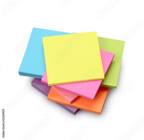 Multicolored stickers