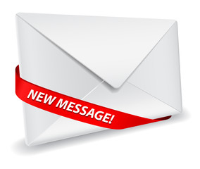 envelope with ribbon