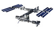 Space station satellite with isolation path on white