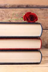 libros y rosa