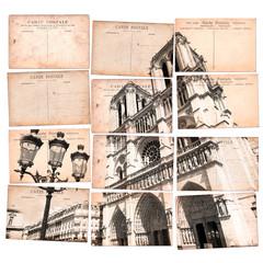 Notre Dame de Paris, mosaïque de cartes postales