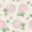 Elegance Seamless pattern with flowers. Roses
