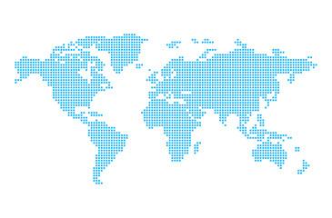 Carte du monde en pixels