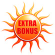 summer extra bonus in 3d sun label