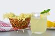 Elderflower flavored summer refreshment