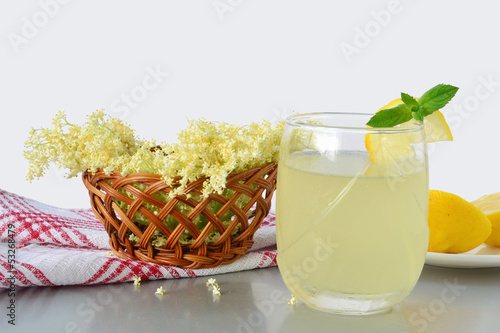 Elderflower flavored summer refreshment