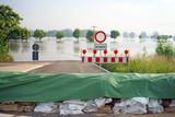 Hochwasserschutz mit Sandsäcken