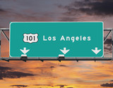 101 Freeway Los Angeles Sunrise Sky - Fine Art prints