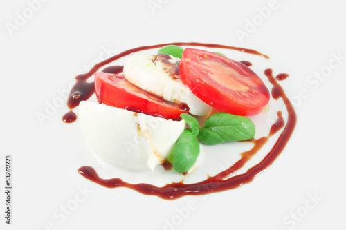 Caprese salad with balsamic vinegar