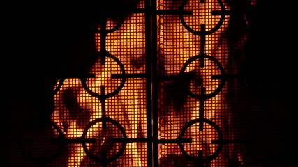 Gates of hell - scary fireplace.