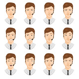 man avatar set: microphone