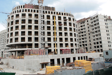 Building of new multi-storey house