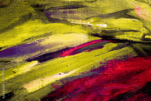 Obraz w ramie abstract painting by oil on canvas, illustration, background