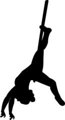 Sagoma donna al trapezio