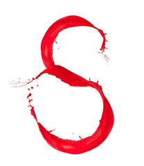 Red Liquid alphabet letter S