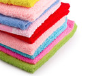 Stack of colorfull towels