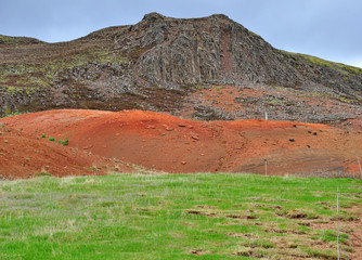 Icelandic soil: orange and green