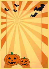 halloween poster mit fledermäusen und strahlen