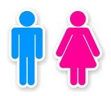 Fototapety stickers of toilet symbols