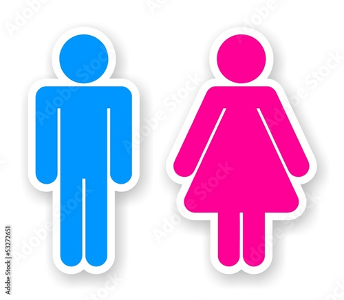 stickers of toilet symbols