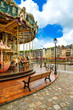 Carousel in Honfleur village landmark. Normandy, France