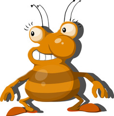 illustrated character cockroach