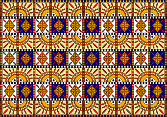 vector pattern in African style