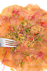 carpaccio de saumon