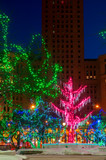 Christmas Lights on Public Square in Cleveland Ohio