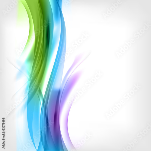 Abstract colored wave on background