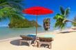 obraz - Tropical beach sce...