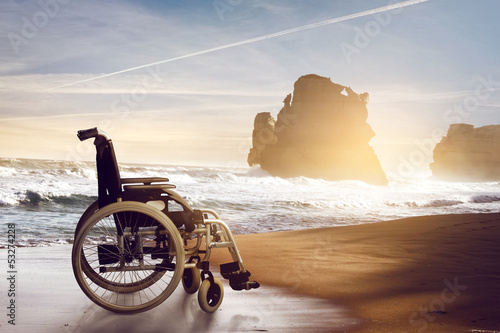 Wheelchair at the Beach