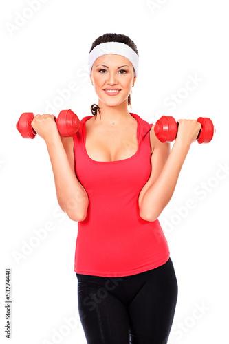 Fototapeten,workout,freudig,mädchen,exercising