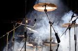 percussion instruments on scene