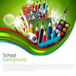 Colorful school background with copyspace