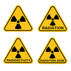 Sign radioactivity, radiation zone