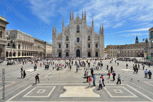 Foto op Canvas Bedehuis Milano Piazza del Duomo