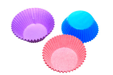 Colourful cupcake holders