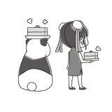 パンダと中国娘