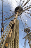 Rigging of sailing ship (tall ship)