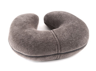 Travelling sleeping pillow isolated