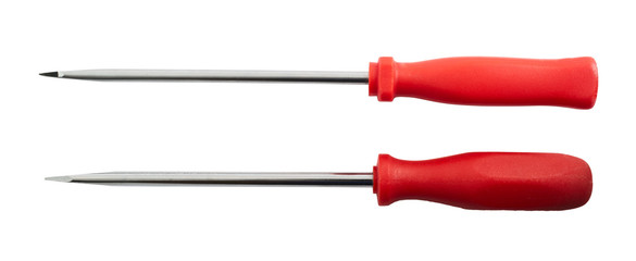 Two screwdrivers isolated