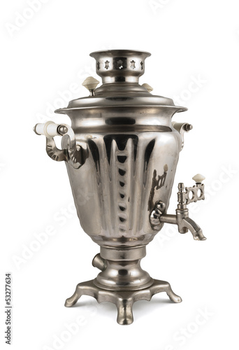 Old russian samovar water boiler