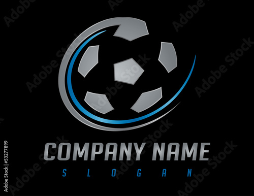 soccer silver logo