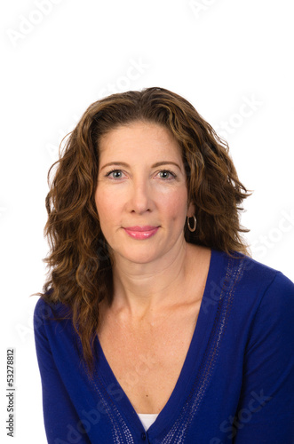 Attractive middle aged woman smiling