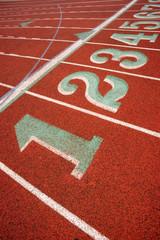 Stadium Running Track Lane Markers Sports Field Number Markings