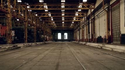 Industrial interior of an old building