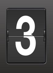 Analog panoda  üç  rakamı