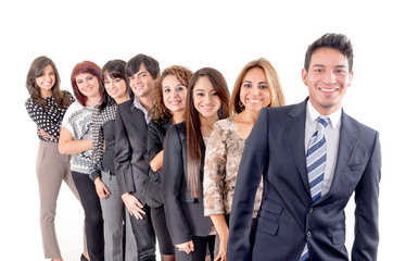 Group of hispanic business people