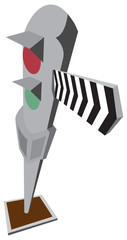 Cartoon train signal